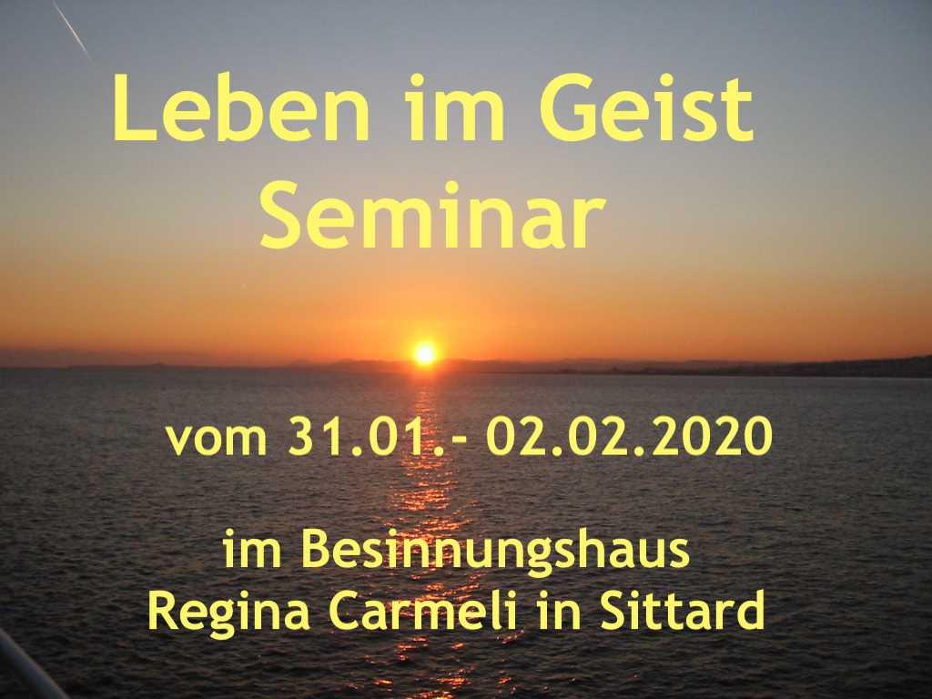 Leben im Geist Seminar 2020